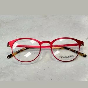 BOOKER'S Wellington Eyeglass Frame Round Red Women